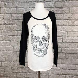 Torrid Rhinestone Skull Raglan Sweater